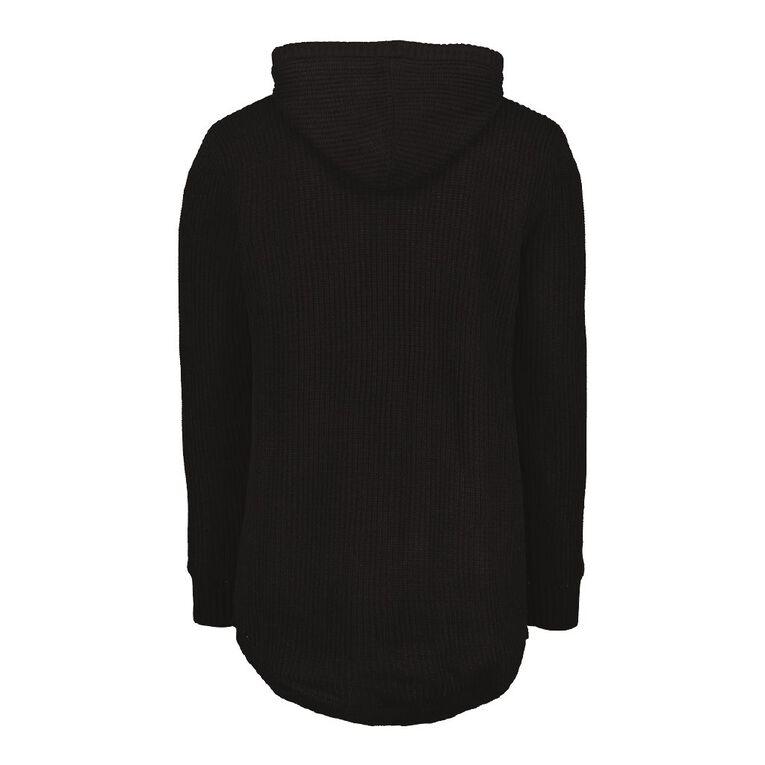 Garage Men's Pullover Hood Lined Jumper, Black, hi-res