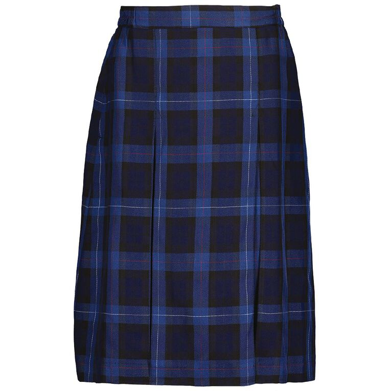 Schooltex Double Inverted Pleat Skirt, Schooltex Tartan TRT014, hi-res