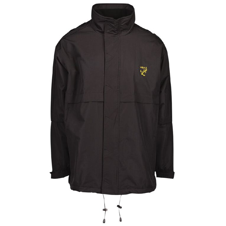 Schooltex Whangarei Boys' High Anorak with Embroidery, Black, hi-res