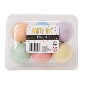Party Inc Easter Egg Chalk Multi-Coloured 6 Pack
