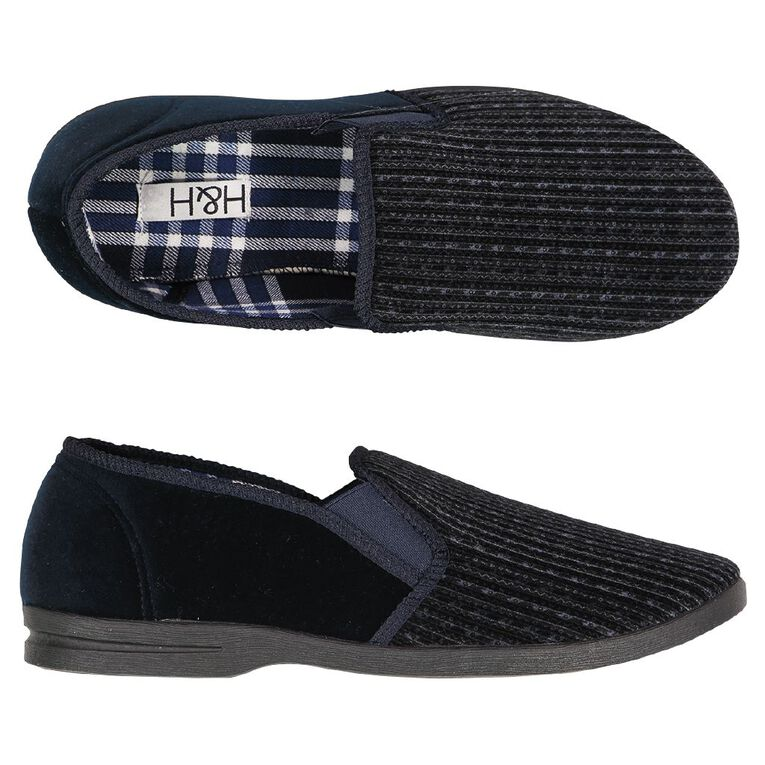 H&H Firetail Slippers, Navy, hi-res