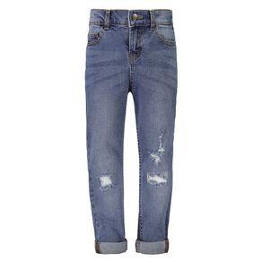 Young Original Boys' Embossed Print Rolled Hem Jeans