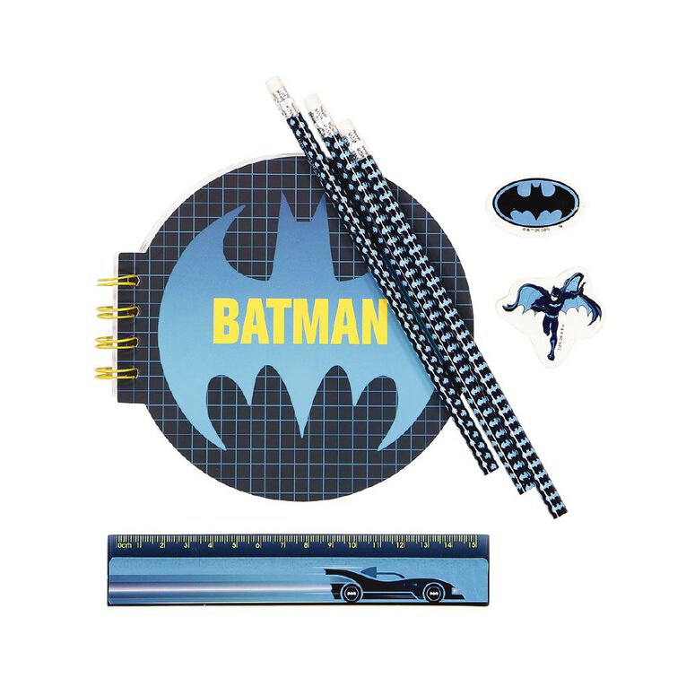 Batman Warner Bros Stationery Set Blue Dark, , hi-res