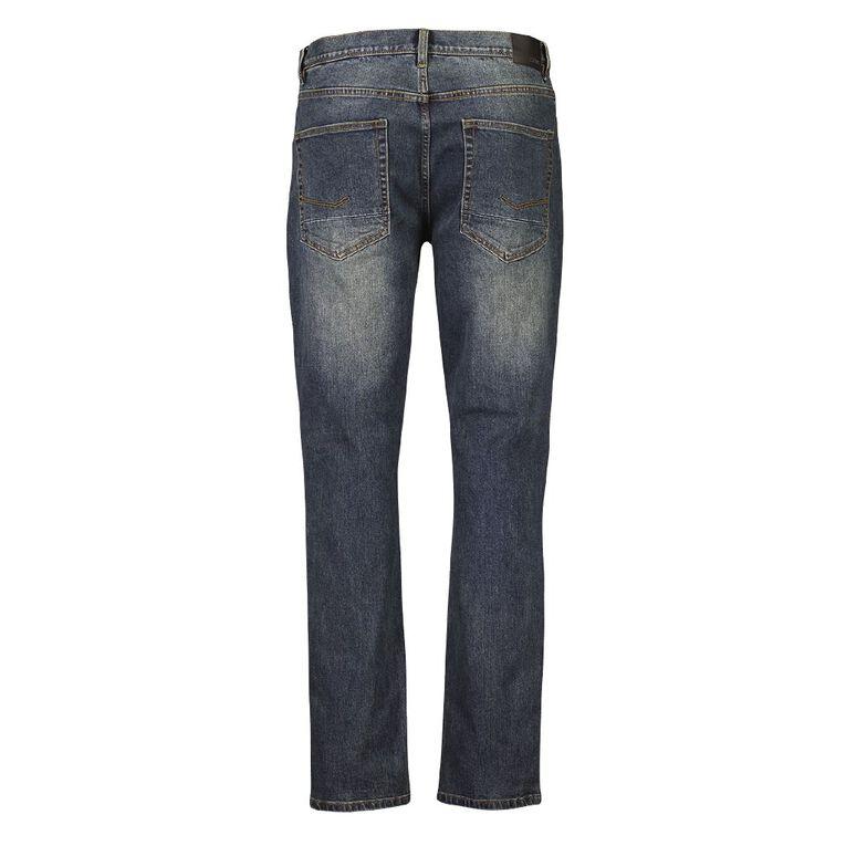 H&H Men's Tapered Jeans, Blue Mid, hi-res