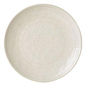 Living & Co Living & Co Glazed Moroccan Dinner Plate Cream