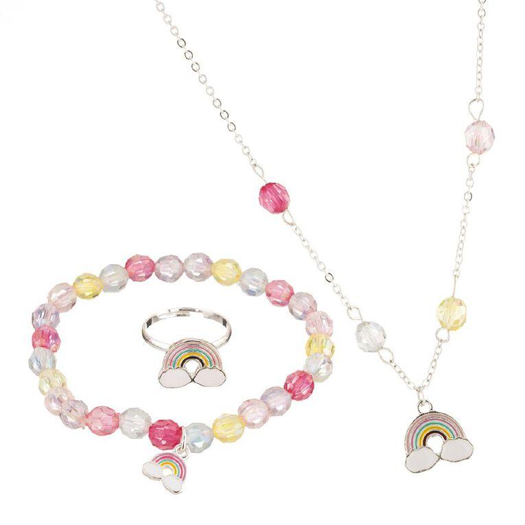 Bead Necklace, Silver, hi-res