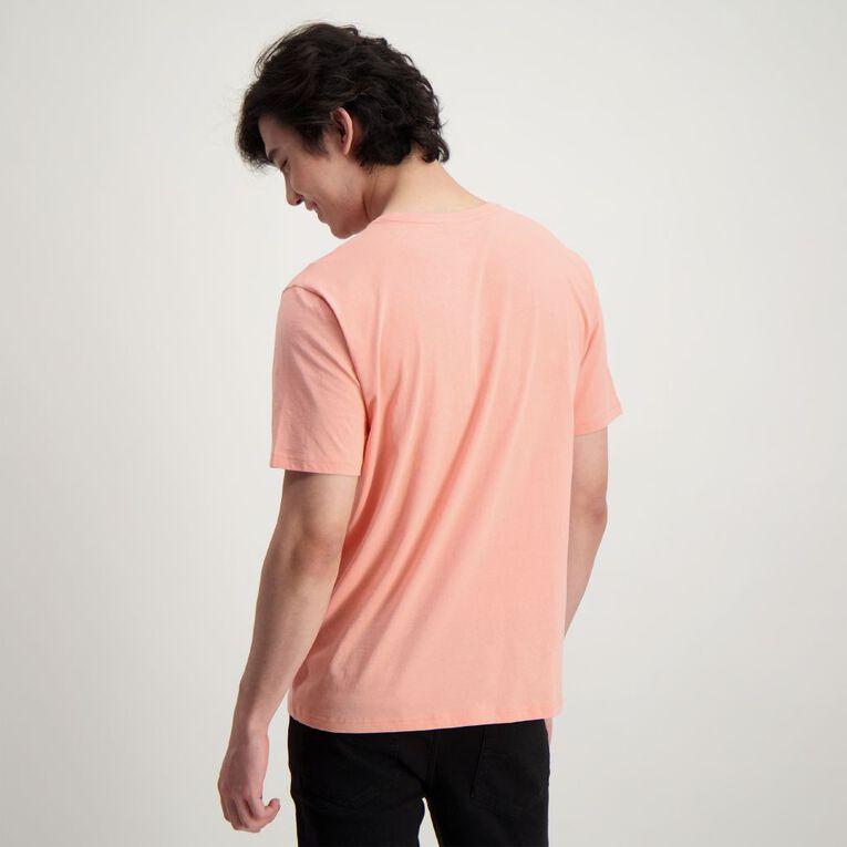 H&H Men's Crew Neck Short Sleeve Plain Tee, Pink ROSE TAN, hi-res