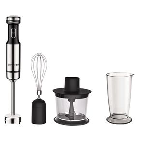 Living & Co Stick Mixer Full Set With Chopper 600w Black/Silver