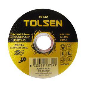 Tolsen Metal Cutting Disc 115mm x 1.0mm x 22mm 10 Pack