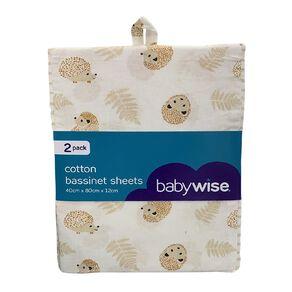 Babywise Cotton Bassinet Sheet 2 Pack