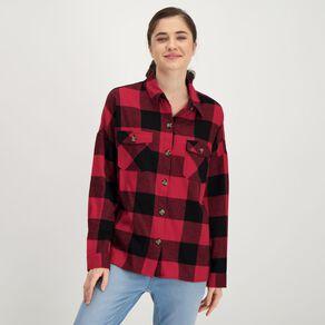 H&H Women's Pocket Flannel Shirt