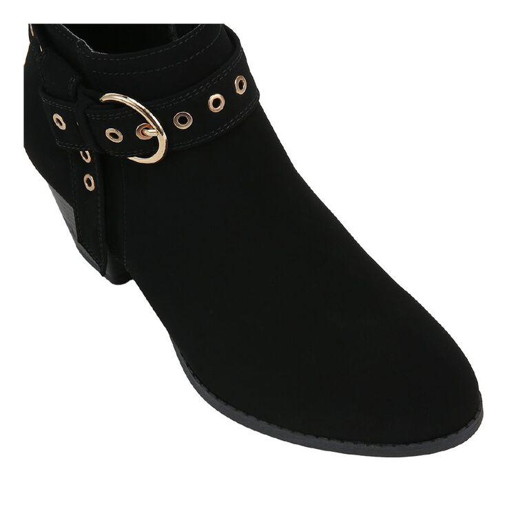 H&H Women's Eyelet Strap Boots, Black, hi-res image number null