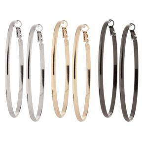 Basics Brand Hoop Earrings 3 Pairs