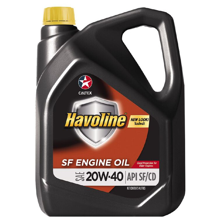 Caltex Havoline SAE 20W-40 SF Engine Oil 4L, , hi-res image number null