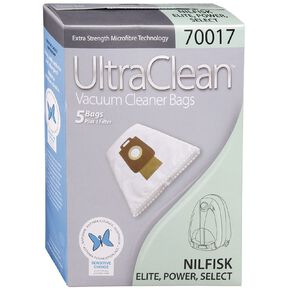 Ultra Clean Vacuum Bags For Nilfisk Power/Elite/Select 5 Pack
