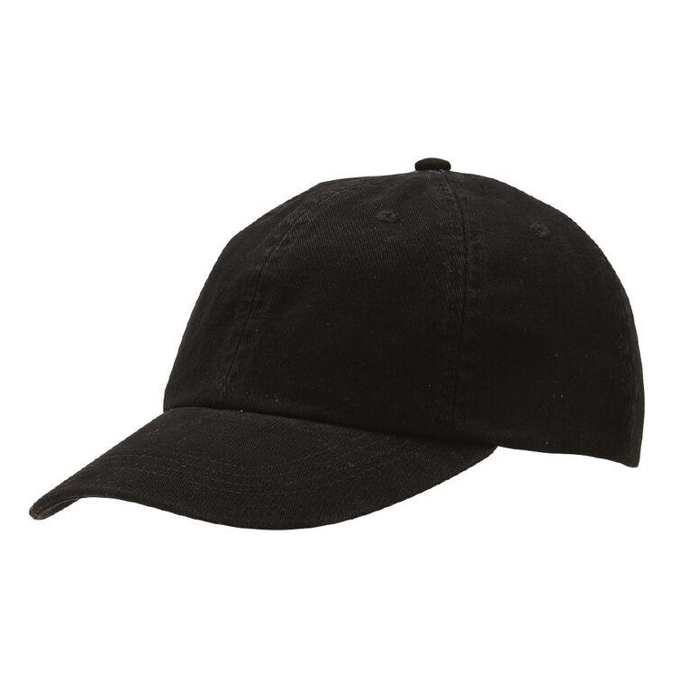 H&H Women's Washed Cap, Black, hi-res