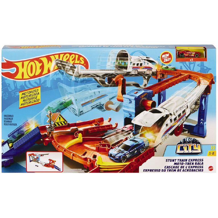 Hot Wheels Stunt Train Exprerss Trackset, , hi-res