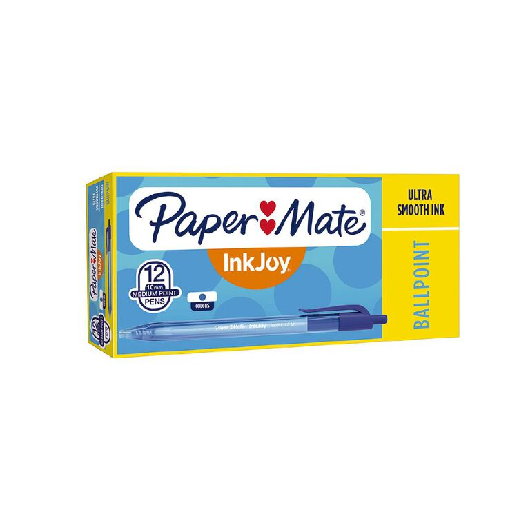 Paper Mate Inkjoy 100RT Blue 12 Pack, , hi-res