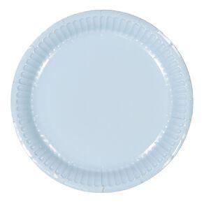 Party Inc Paper Side Plates 18cm Pastel Blue 20 Pack