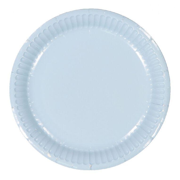 Party Inc Paper Side Plates 18cm Pastel Blue 20 Pack, , hi-res