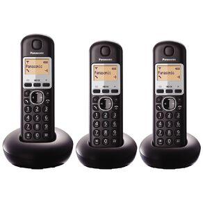 Panasonic KX-TGB213NZB Triple Cordless Handset Black Black