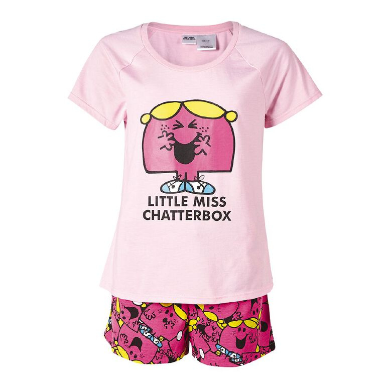 Little Miss Women's Short Sleeves Tee and Shorts, Pink Light, hi-res