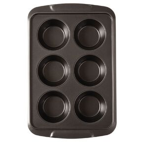 Living & Co Heavy Gauge Non Stick Texas Muffin Tin 6 Cup