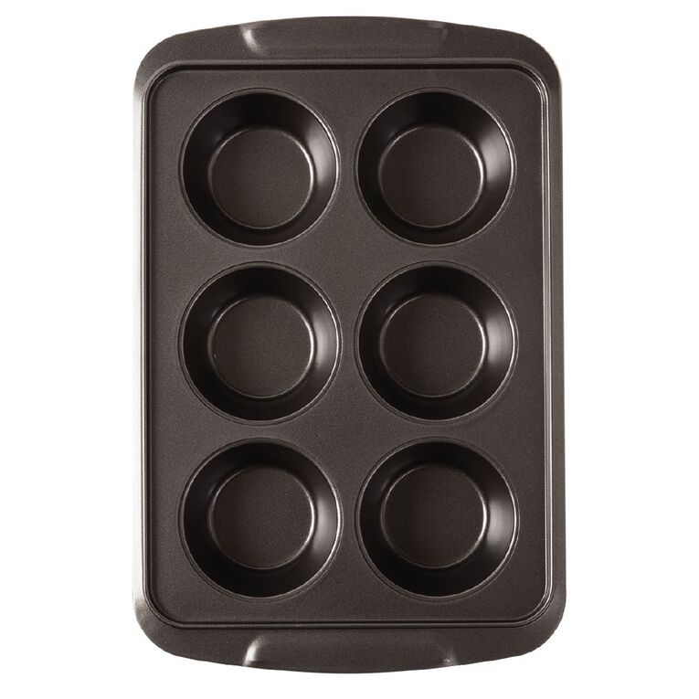 Living & Co Heavy Gauge Non Stick Texas Muffin Tin 6 Cup, , hi-res