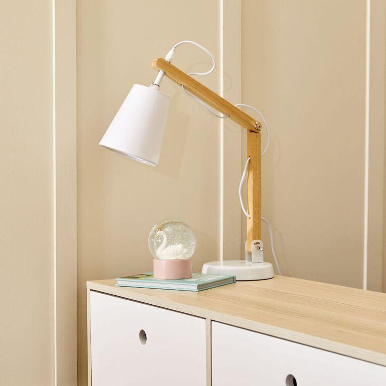 Living & Co Calvin Desk Lamp E14 40w White, , hi-res