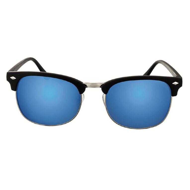 H&H Essentials Browbar Blue Mirror Sunglasses, Blue, hi-res
