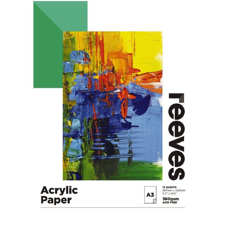 Reeves Acrylic Pad A3, , hi-res