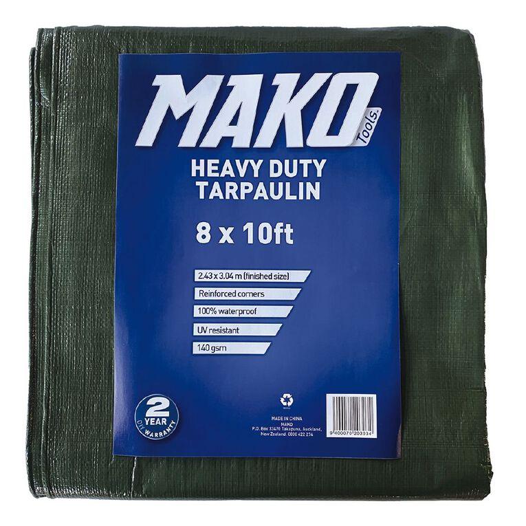 Mako Tarpaulin 140gsm 8ft x 10ft Green, , hi-res