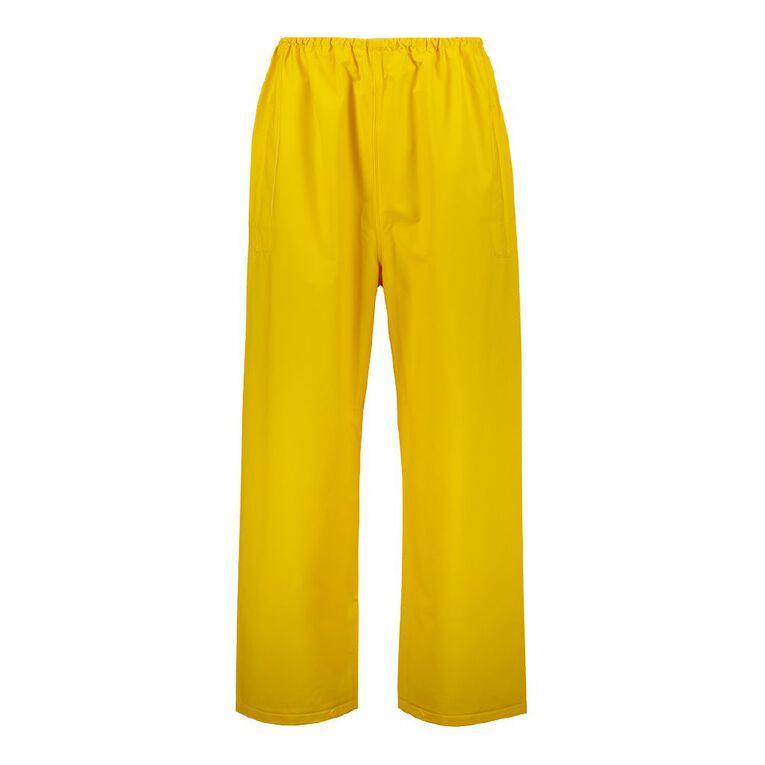 Rivet Waterproof PVC Pants, Yellow, hi-res