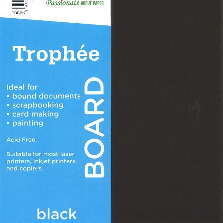 Trophee Board 210gsm 100 Pack Black A4, , hi-res
