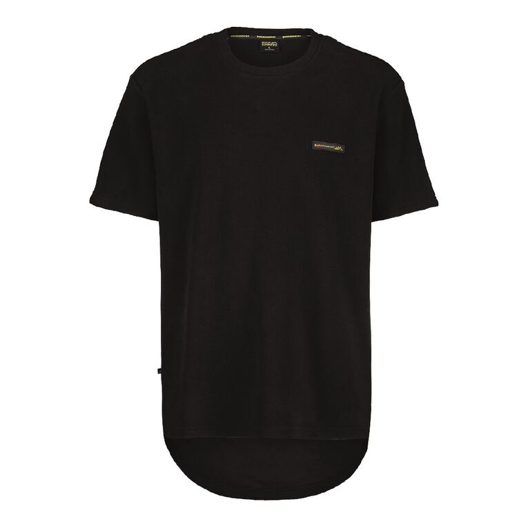 Back Country Solid Fleece Short Sleeve Tee, Black, hi-res image number null