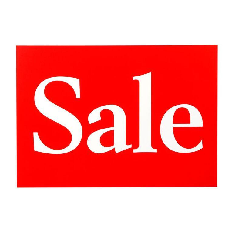 Quik Stik Labels Sign Sale 10 Pack Red/White A4, , hi-res