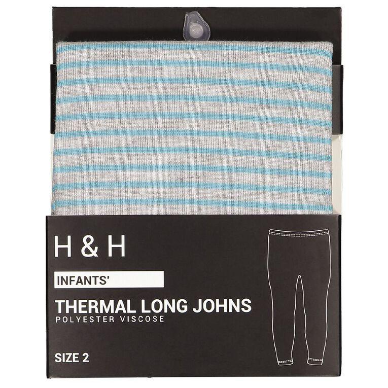 H&H Infants Polyester Viscose Long John Thermal, Aqua, hi-res