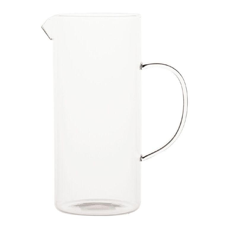 Living & Co Glass Jug Clear 1.3L, , hi-res