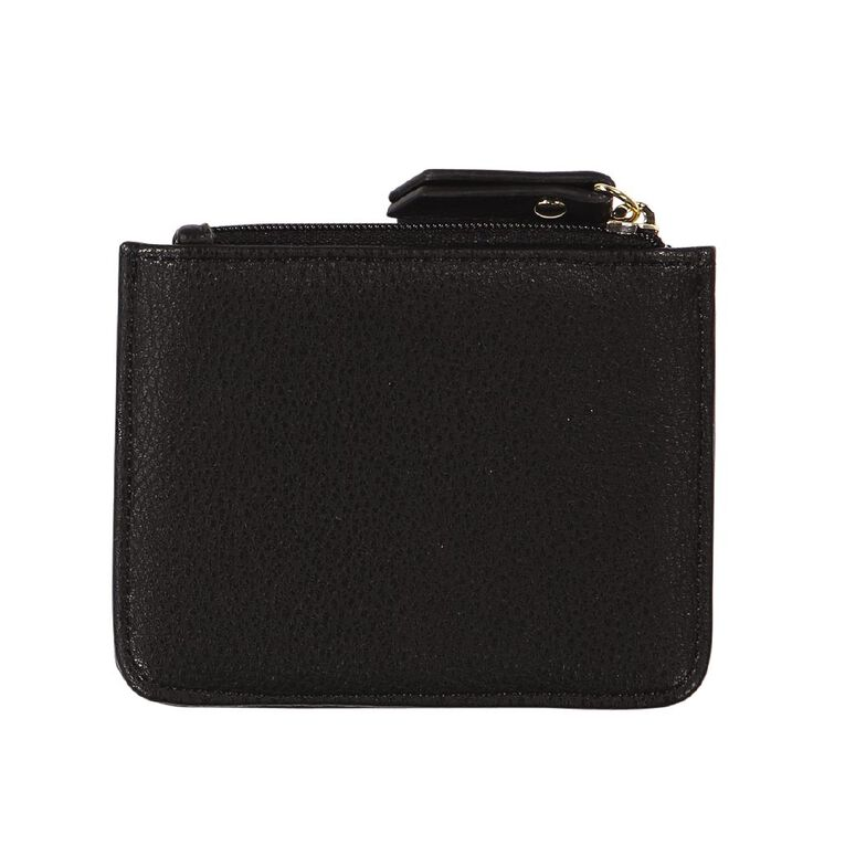 H&H Card Zip Purse, Black, hi-res