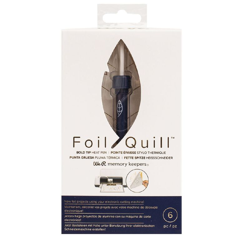 We R Memory Keepers Foil Quill Pens Bold Tip Pen 6 Piece, , hi-res