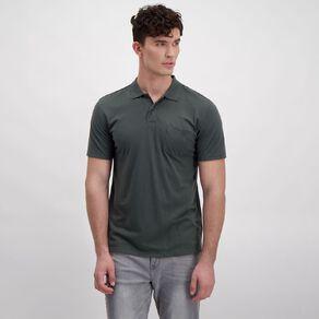 H&H Men's Short Sleeve Pique Pocket Polo