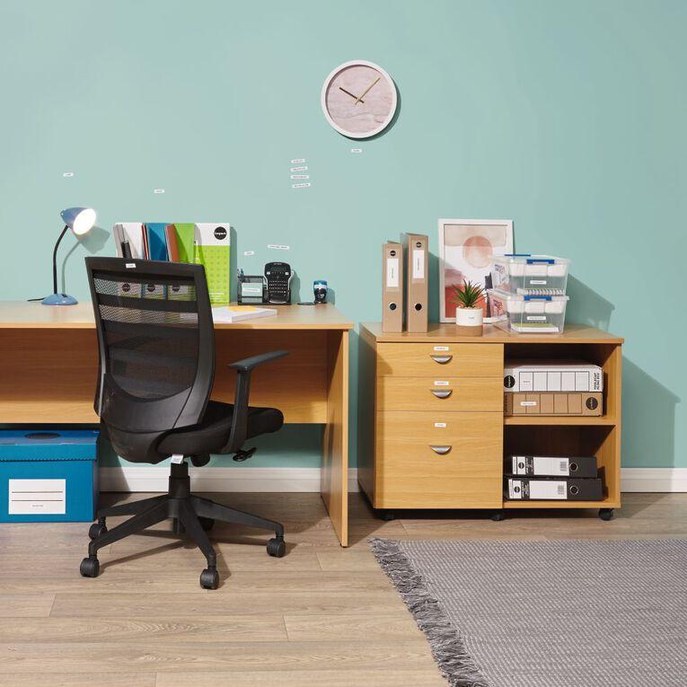 Workspace Ergo 3 Lever Highback Task Chair Black, , hi-res