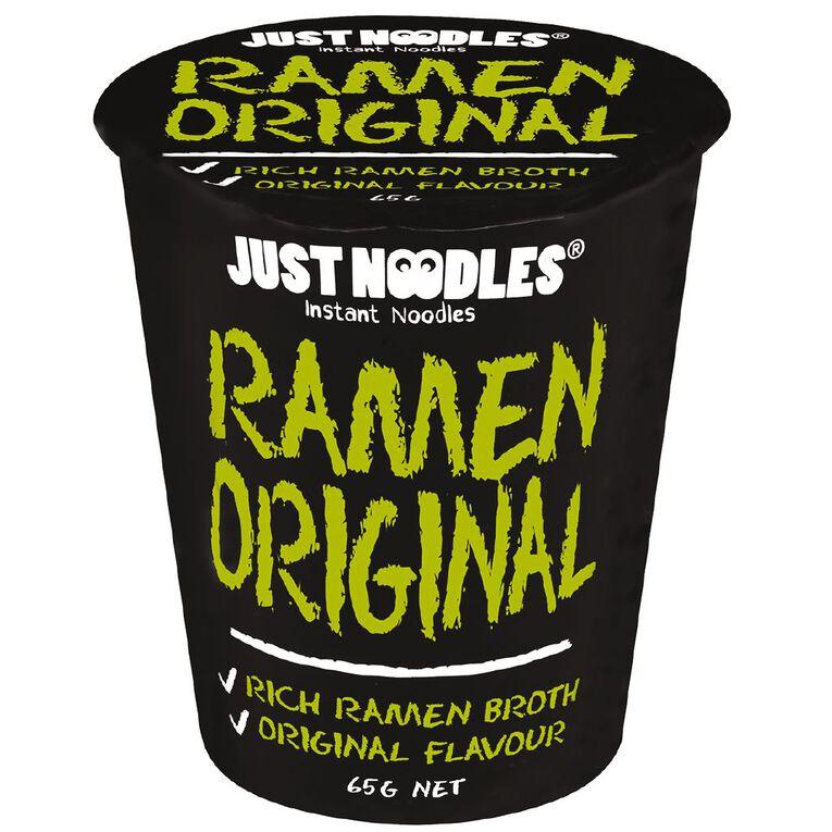 Just Noodles Instant Original Ramen Flavour Noodles 65g, , hi-res