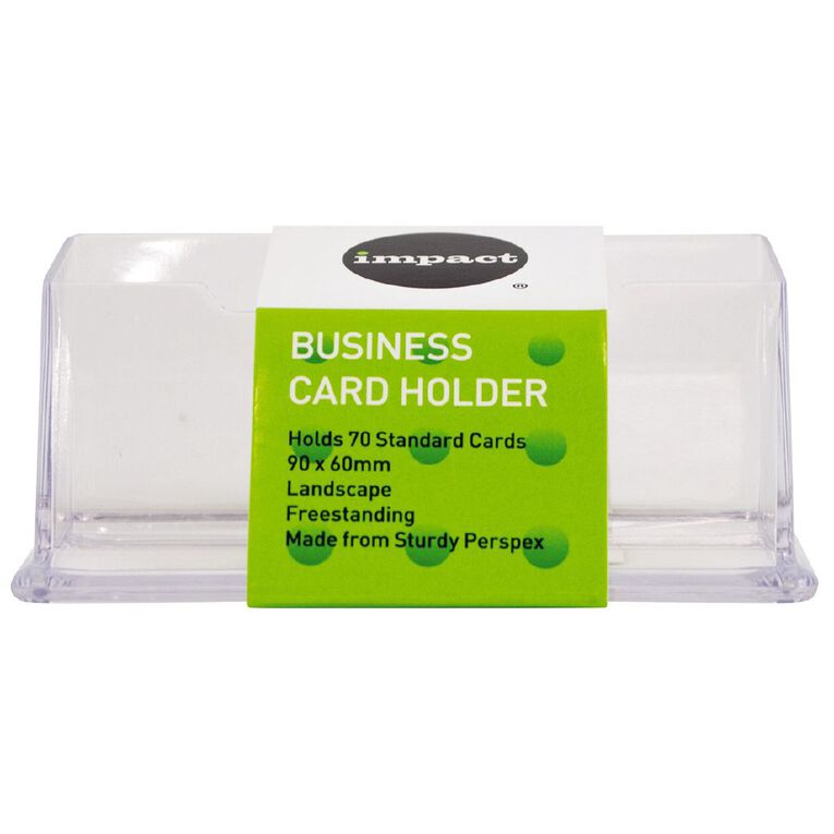 Impact Business Card Holder Free Standing Landscape Single, , hi-res