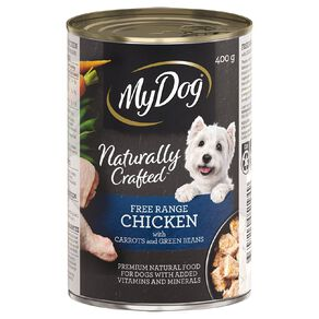My Dog Natural Free Range Chicken with Carrots & Green Beans 400g