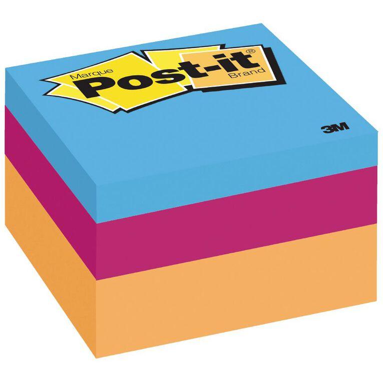 Post-It Mini Cubes Neon Multi-Coloured, , hi-res