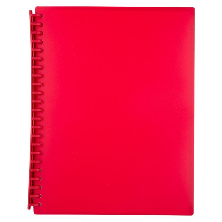 WS Clear Book Refillable 20 Leaf Red A4, , hi-res
