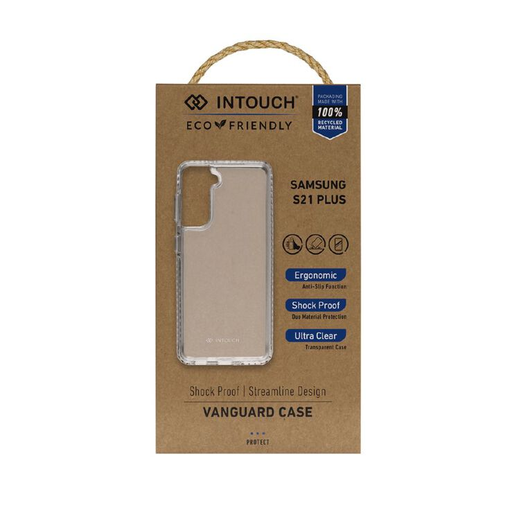 INTOUCH Samsung S21+ Vanguard Drop Protection Case Clear, , hi-res