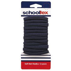 Schooltex Softie Elastics 12 Pack Navy