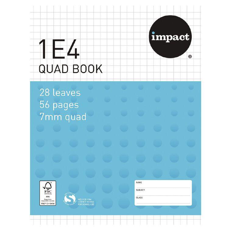 WS Exercise Book 1E4 7mm Quad 28 Leaf Blue, , hi-res